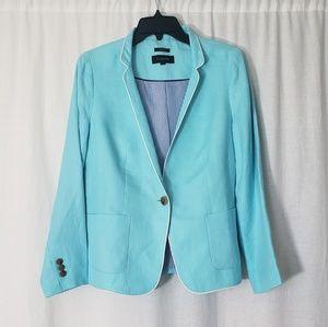 Talbots Summer Turquoise linen Blazer